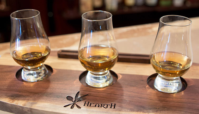 Hearth Whiskey Flights
